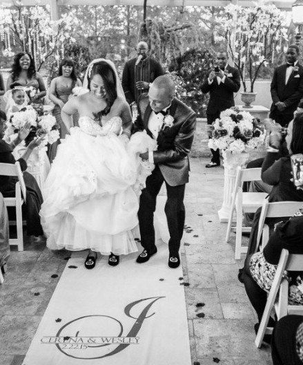Make your walk down the aisle extra special using our wedding monogram aisle runner to compliment any venue or wedding theme. Personalized