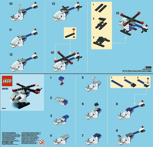 Lego Micro Helicopter Instructions Lego Building Techniques