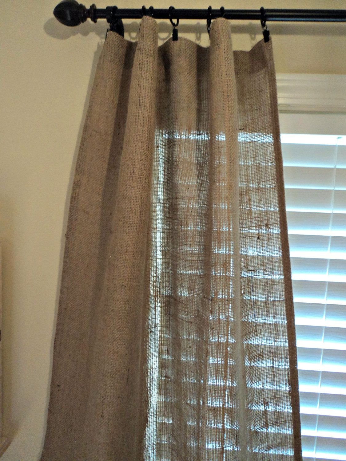 French curtain panels - Burlap Curtain Panels Pair Of Curtains French Farmhouse Coastal Chic Home Decor 60 00 Via