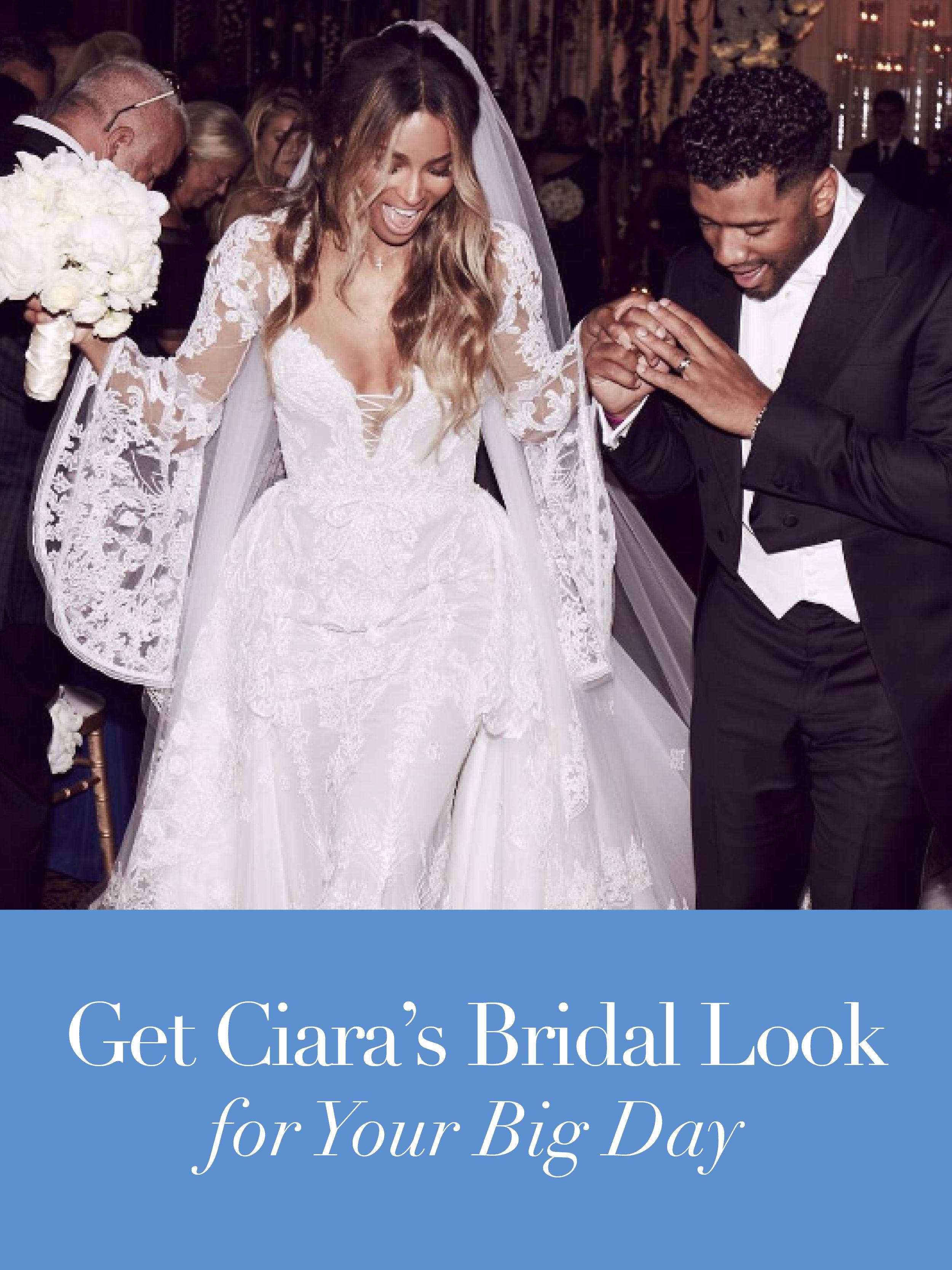 Ciara Russell Wilson 13 Wedding Dresses Inspired By Her Gown Wedding Dresses Celebrity Weddings Designer Wedding Dresses