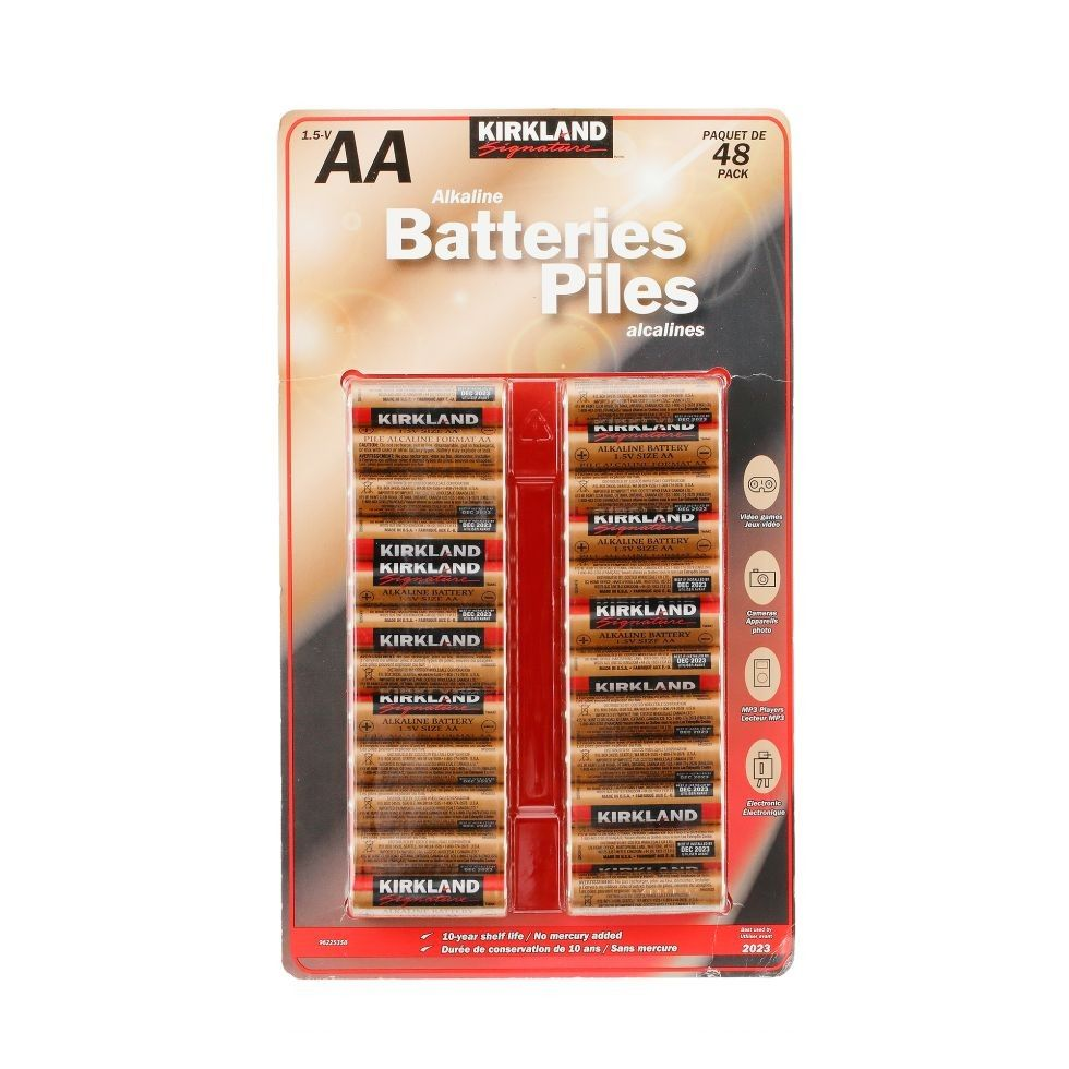 P ʹq Alkaline Battery Kirklands Packaging