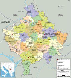 Political Map Of Kosovo Reisen Bosnien