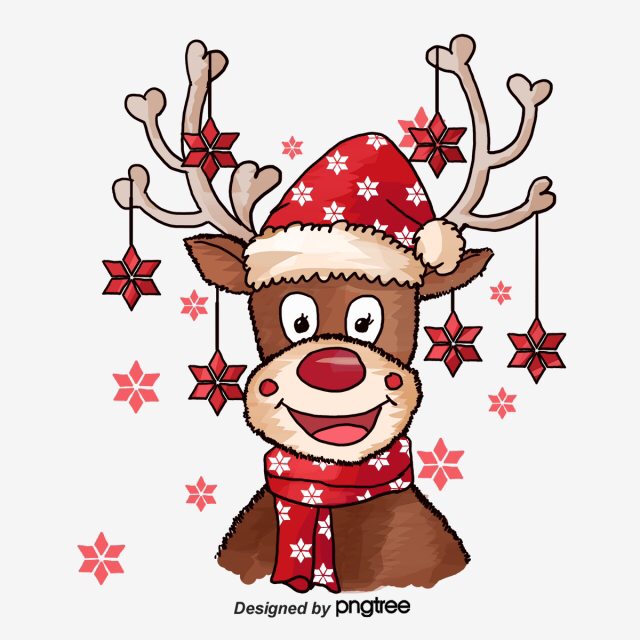 Christmas Deer Deer Clipart Elk Red Bell Png Transparent Clipart Image And Psd File For Free Download Christmas Deer Christmas Paintings Christmas Drawing