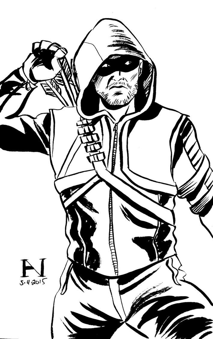 green arrow coloring pages # 6