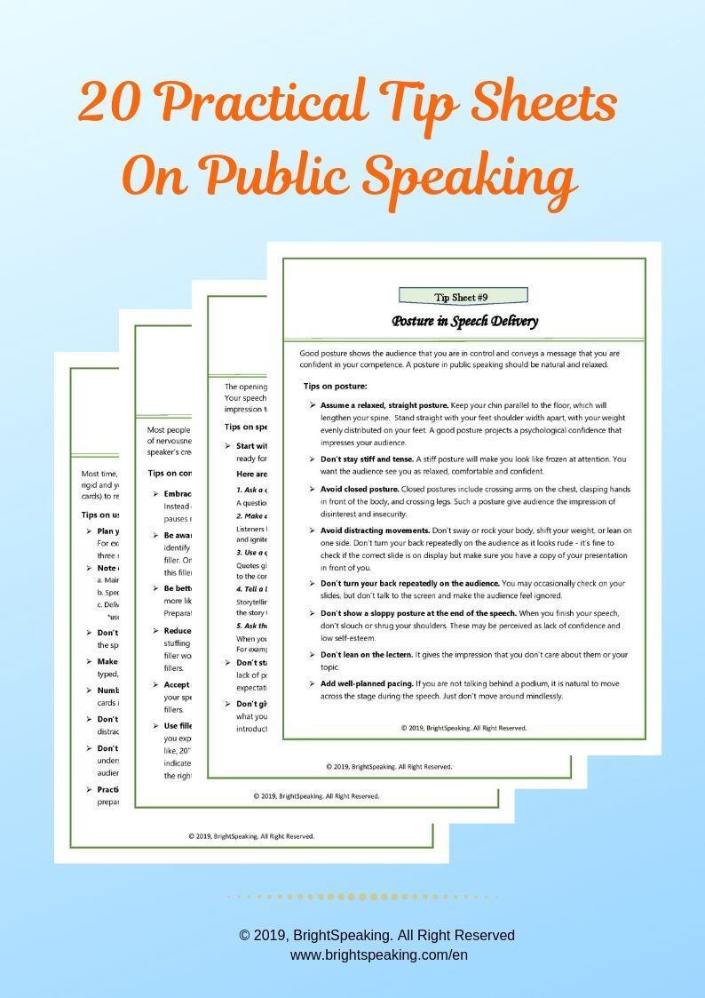 This Package Includes A Collection Of Effective And Practical Tips On 20 Key Aspects Of Public In 2020 Public Speaking Public Speaking Tips Personal Growth Motivation