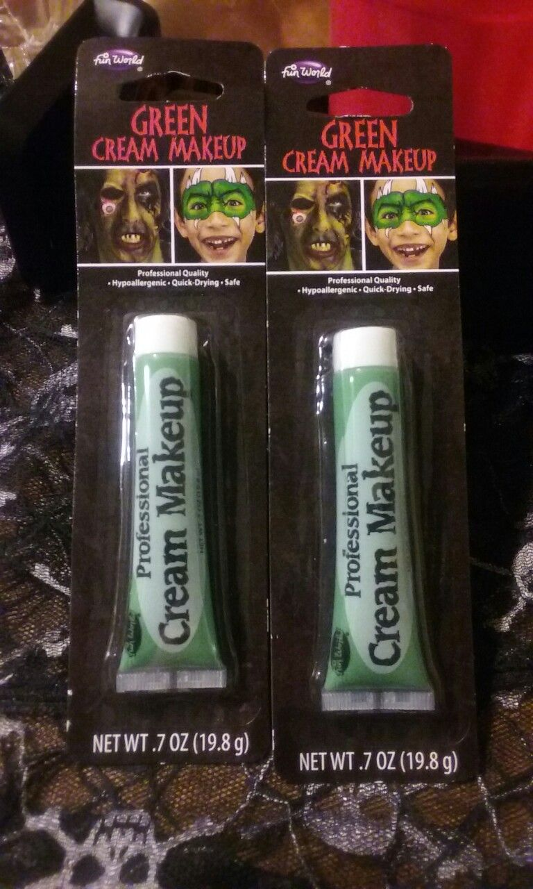 yesss got some green face and body paint from the store with my