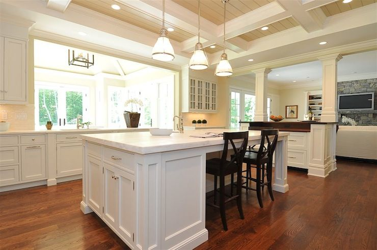 source: Jillian Klaff Homes Traditional kitchen opens into family ...