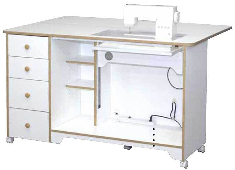 Horn Of America 5680 Electric Lift Sewing Cabinet, Cutting Table In Sunset  Oak Only
