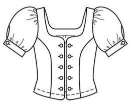 Blusa Country Parte 1 Transformacion Del Patron Base Blog De Costura Patrones Patrones De Costura