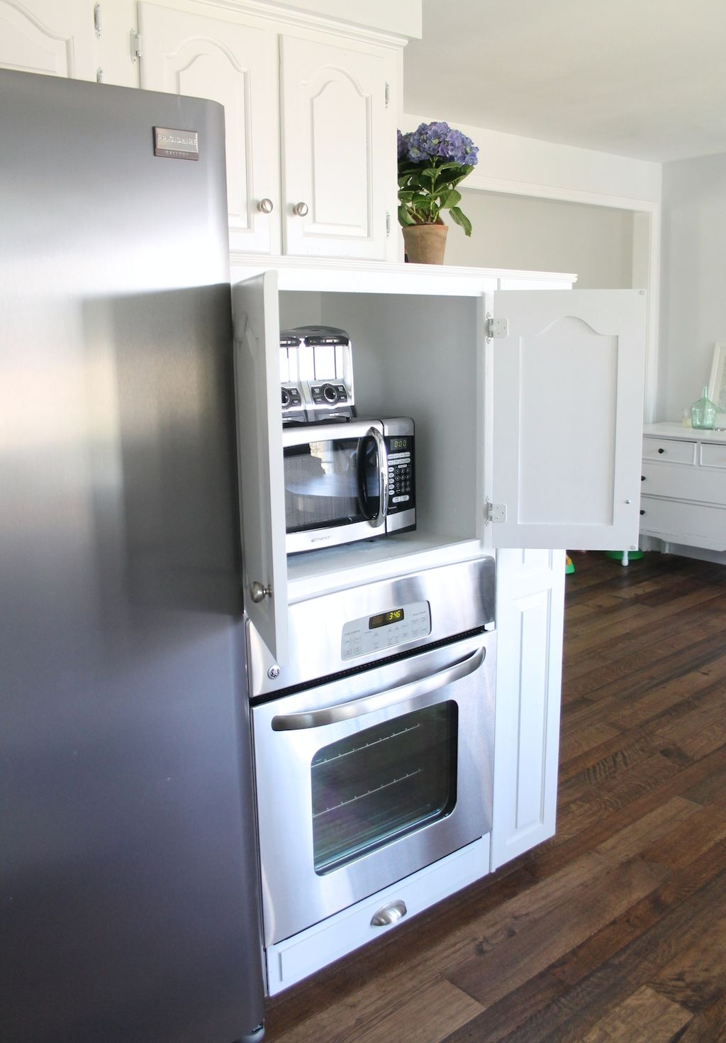 hiding your kitchen appliances with a diy appliance garage appliance garage kitchen on kitchen appliances id=34565