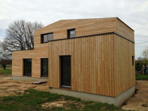 maison ossature bois bardage m l ze aanbouw hout pinterest. Black Bedroom Furniture Sets. Home Design Ideas