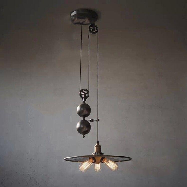3 фонари относительной влажности чердак старинные промышленные подвесные шкив Mirro железа подвесной светильник эдисон лампы светильник лампа освещения Luminiare, принадлежащий категории Подвесные светильники и относящийся к Лампы и освещение на сайте AliExpress.com | Alibaba Group