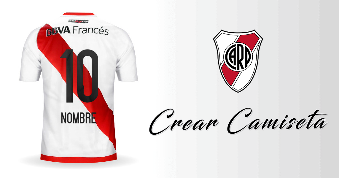 4e311c4bbf525 Personalizar camiseta de River Plate 2016 con tu Nombre y Numero.  Compartela en Facebook
