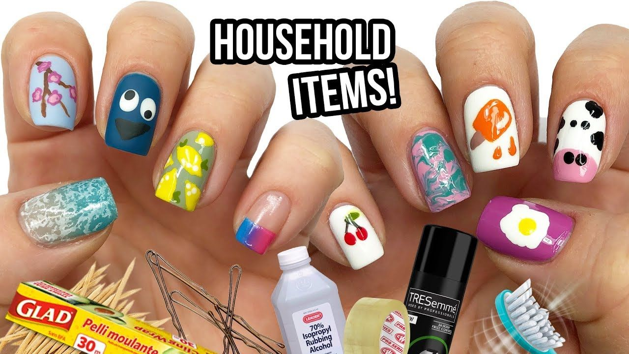 10 Nail Art Designs Using Household Items The Ultimate Guide 10 Youtube Nail Art Designs Simple Nail Art Designs Diy Nail Art Tools
