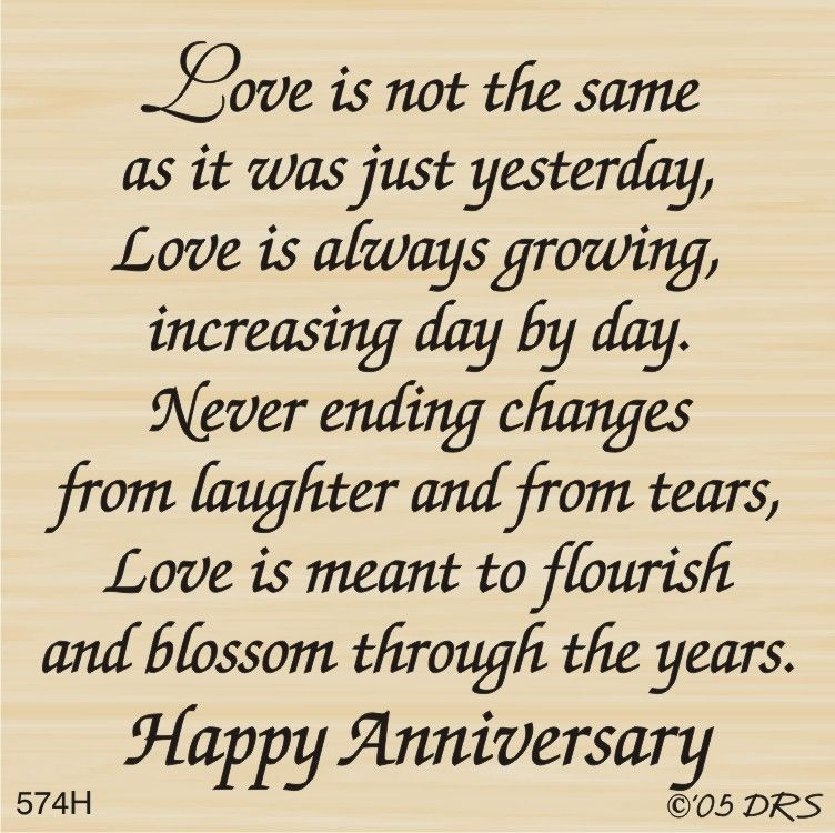 Changing Love Greeting 574h Anniversary Card Sayings Anniversary Verses Verses For Cards