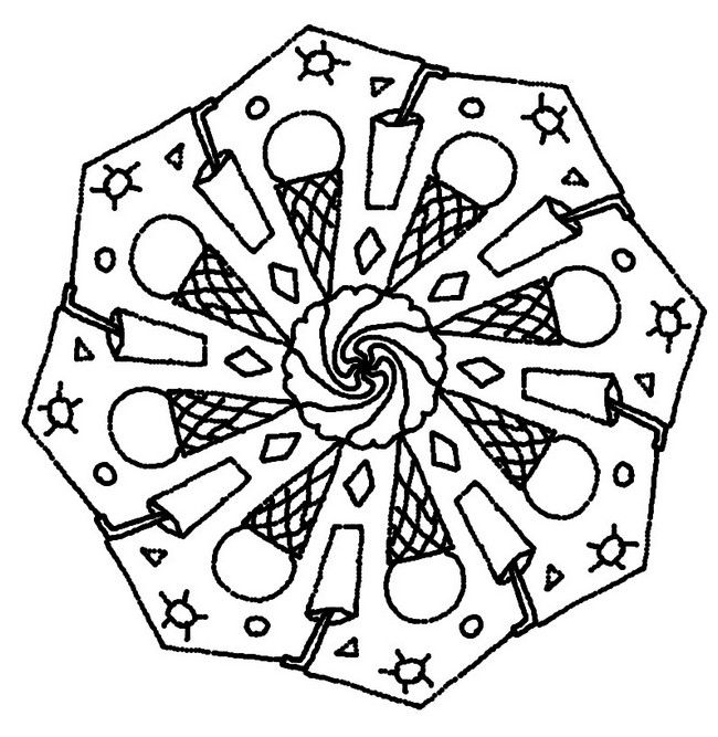 Dibujo para colorear Mandalas de Verano | QUATRE ESTACIONS ...