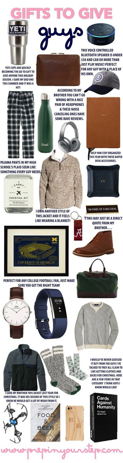 Gifts to Give Guys Winter Christmas Pinterest Guy