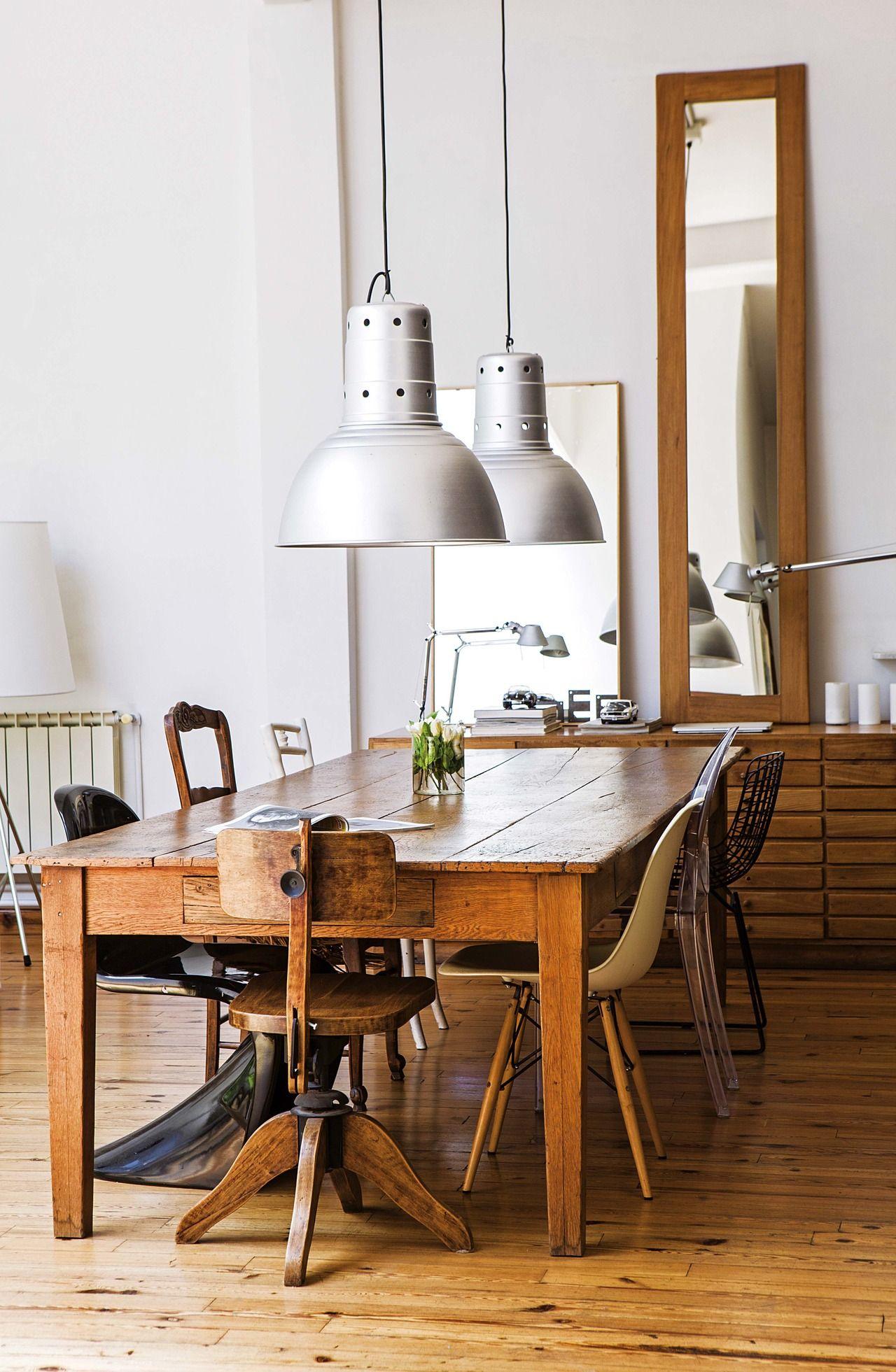 Un PH decorado con grandes diseños del siglo XX | Bancos de madera ...