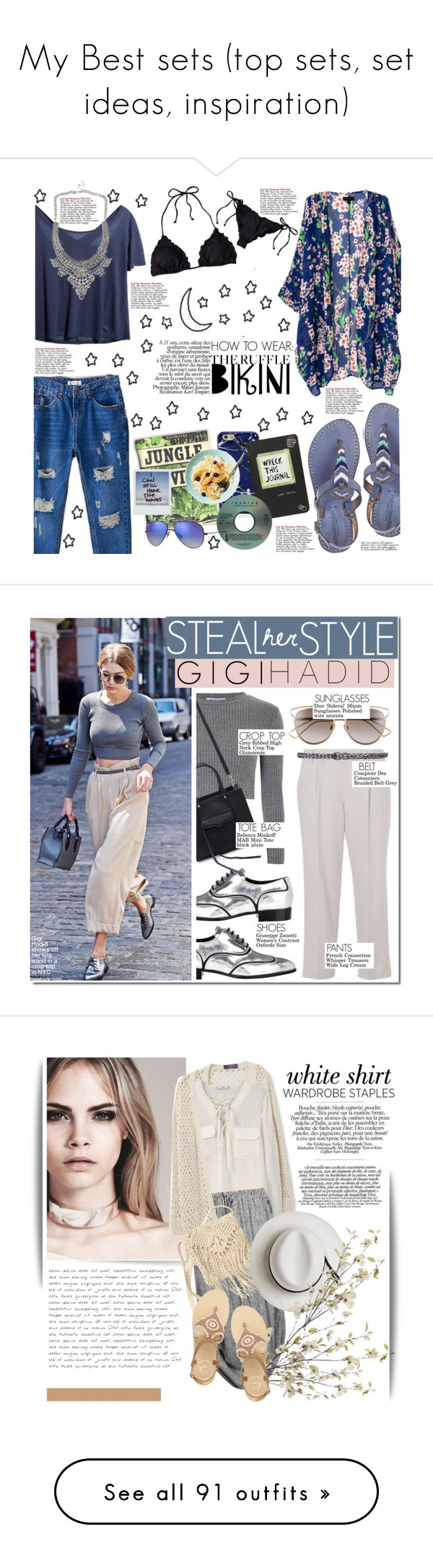 """""""My Best sets (top sets, set ideas, inspiration)"""" by hafsahshead ❤ liked on Polyvore featuring Laidback London, Marc Jacobs, Ray-Ban, Barneys New York, Giuseppe Zanotti, Glamorous, Rebecca Minkoff, French Connection, Comptoir Des Cotonniers and Christian Dior"""