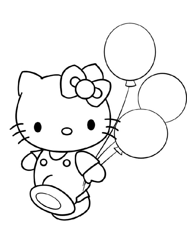Top 30 Hello Kitty Coloring Pages To Print http://procoloring.com ...