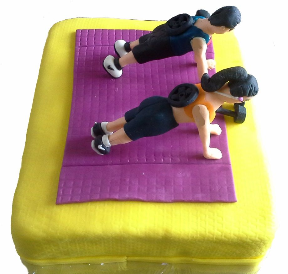 Design Of Gym Cake : Fitness Freakness Cake for Friends Customized Cakes for ...