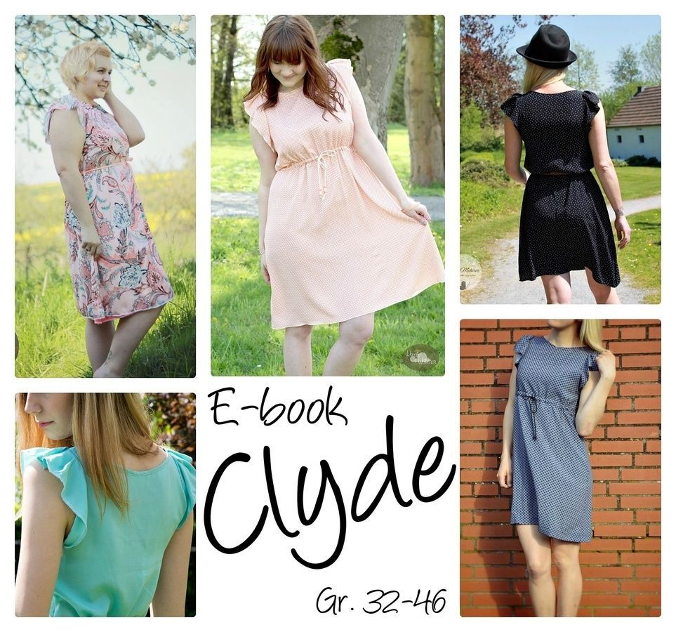 Ebook♥CLYDE♥Kleid mit Tunnelzug♥Gr. 32-46♥ | Sewing patterns and ...