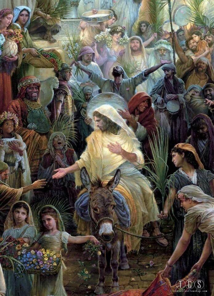 Resultado de imagen para JESÚS ENTRANDO A JERUSALEN, LA PASION, GIF