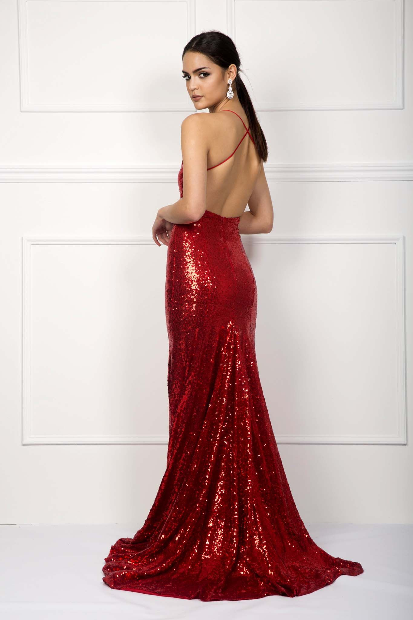 Estelle gown red formal wear pinterest gowns sequin gown