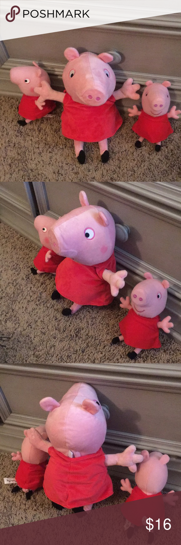 Set Of 3 Peppa Pig Toys 2 Stuffed One Moves Set Of 3 Peppa Pig Toys 2 Stuffed One Moves 2 Small Ones Are Plush Toys Larg Peppa Pig Toys Toy 2 Peppa Pig [ 1740 x 580 Pixel ]
