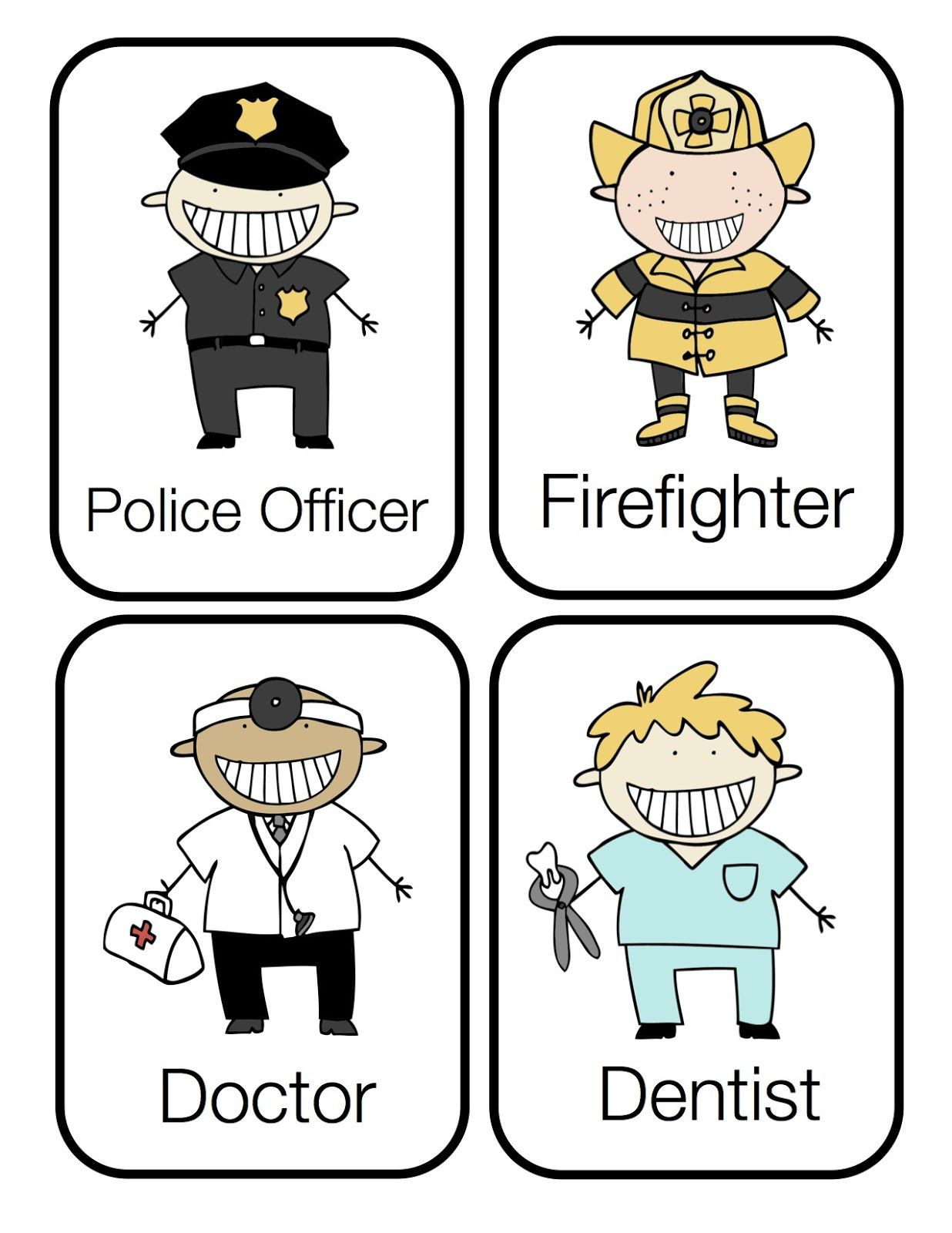 community helpers free preschool printables kiddos pinterest
