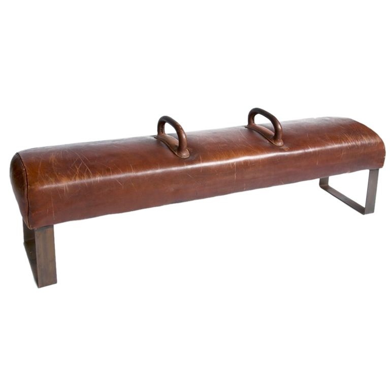 Pommel Horse Bench | From a unique collection of antique and modern benches at https://www.1stdibs.com/furniture/seating/benches/