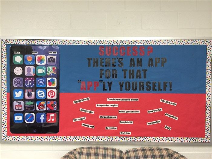"""""""Success? There's An App for That!"""" Back To School Bulletin Board"""