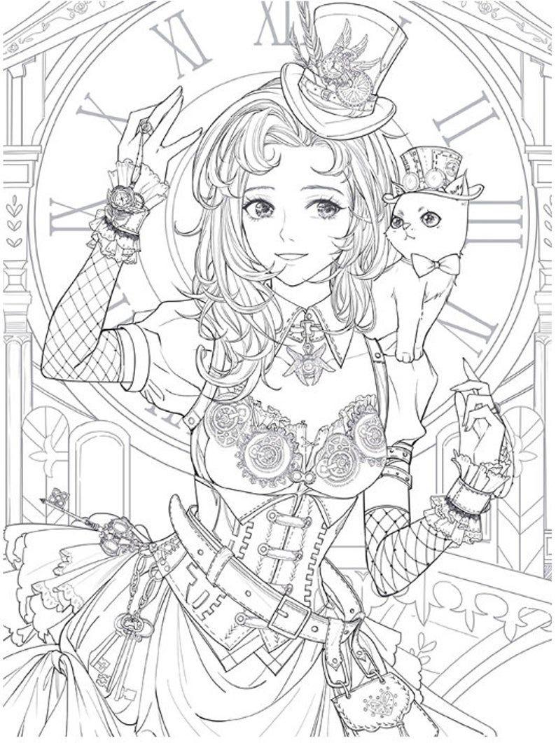 Livre De Coloriage De Mascarade Custome Jeu Livre De Etsy Coloriage Livre Coloriage Coloriage Manga