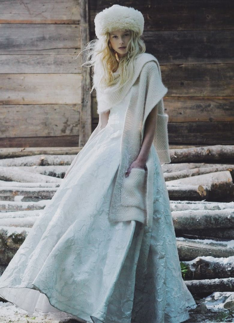 winter wedding dress with something blue <3<3 Designing and ...
