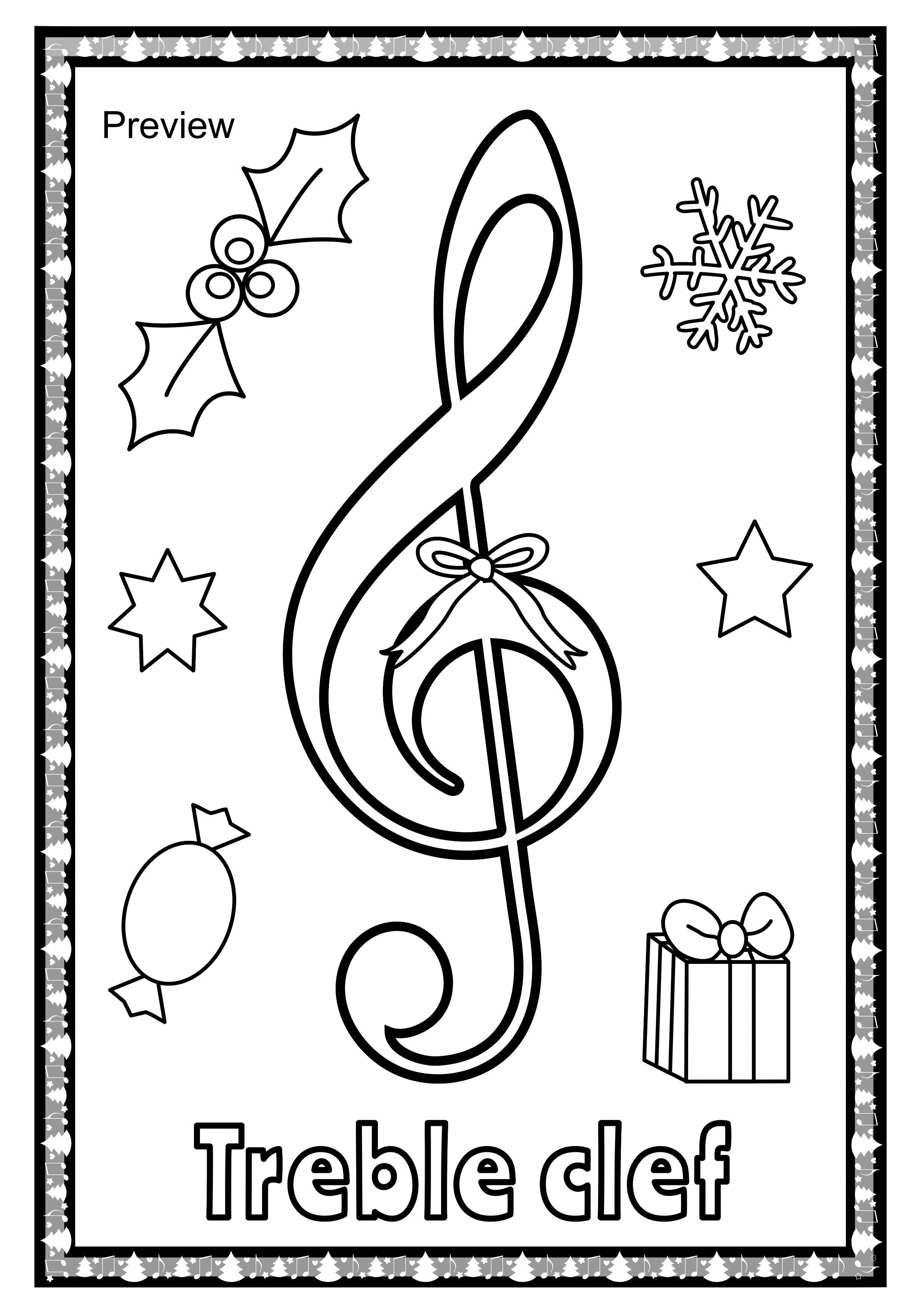 Christmas Musical Posters For Coloring