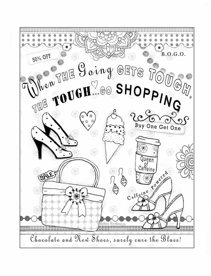 Humorous coloring page from artist, Barbara Ann Kenney ...