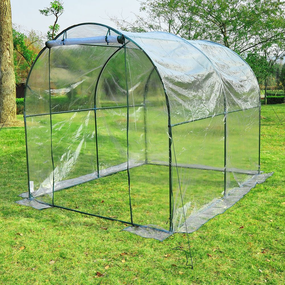 8 X 6 Dome Walk In Greenhouse Garden Plant Shed Vegetables Grow Tent Backyard Ebay Walk In Greenhouse Greenhouse Indoor Greenhouse Backyard walk in greenhouse