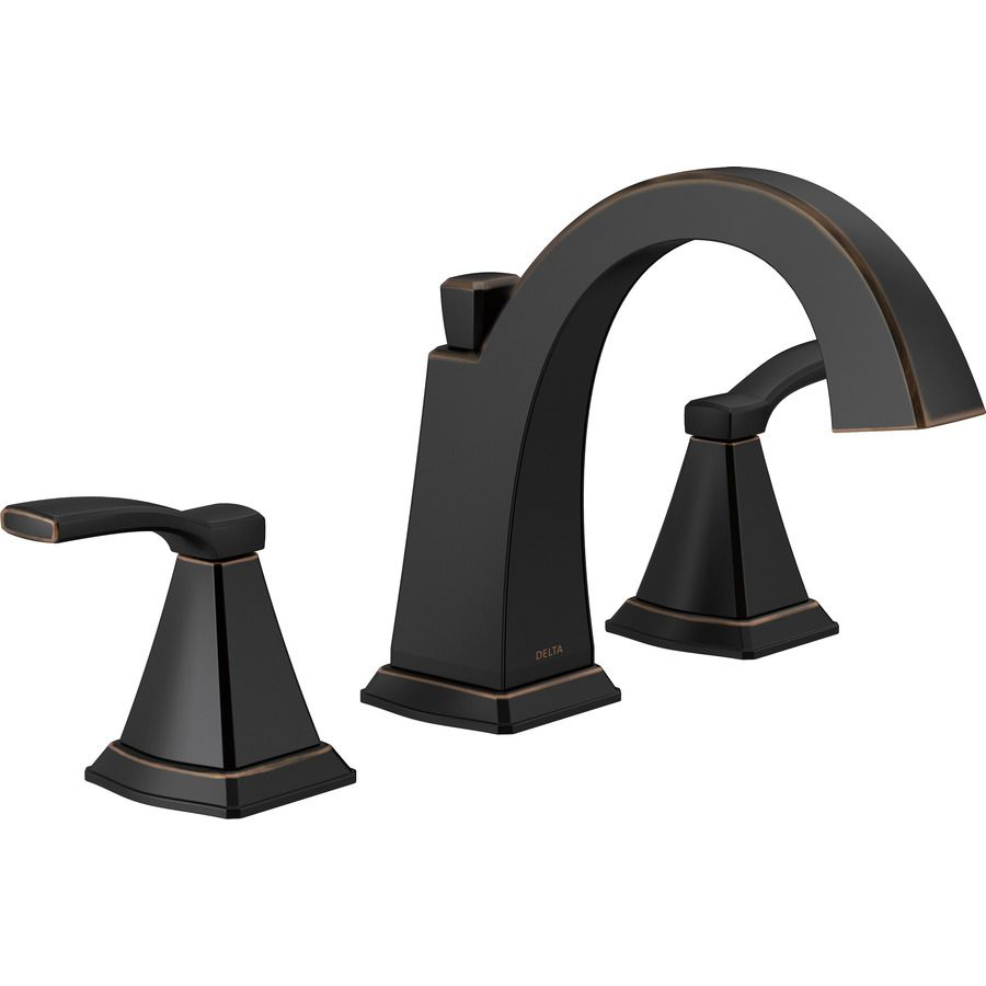 Delta Flynn Oil Rubbed Bronze 2-Handle Widespread Bathroom Faucet ...