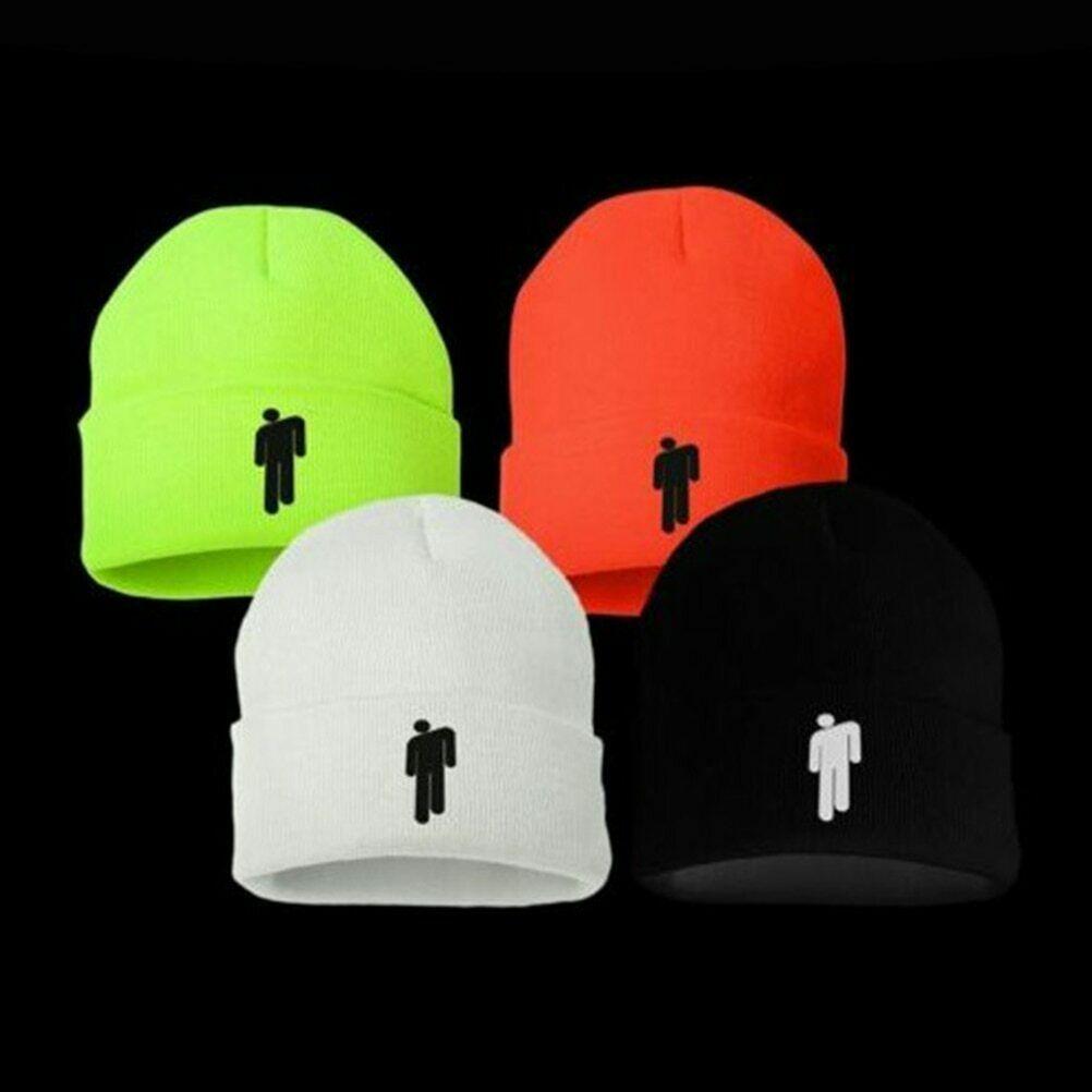 Multiple Colors NEW 2019 Billie Eilish Beanie Stickman Women Men Knit Cap Hat