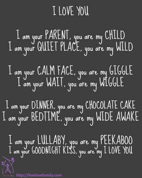 parent and child relationship poems for him