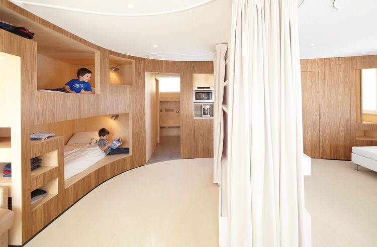 H2o architectes cabin alps sleeping curtain 05 camper pinterest