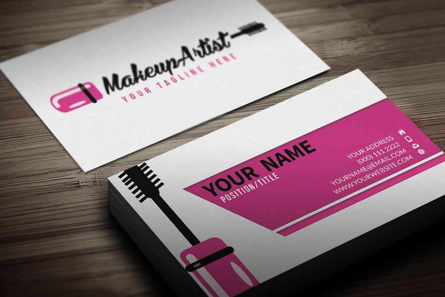 Delighted Make Up Artist Business Cards Images Business Card - Makeup artist business card template