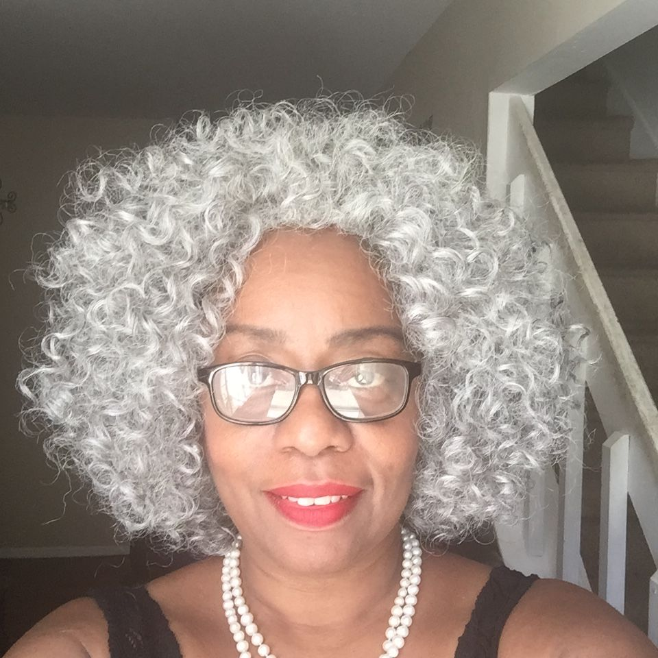 Gray haired beauty natural hair styles natural gray