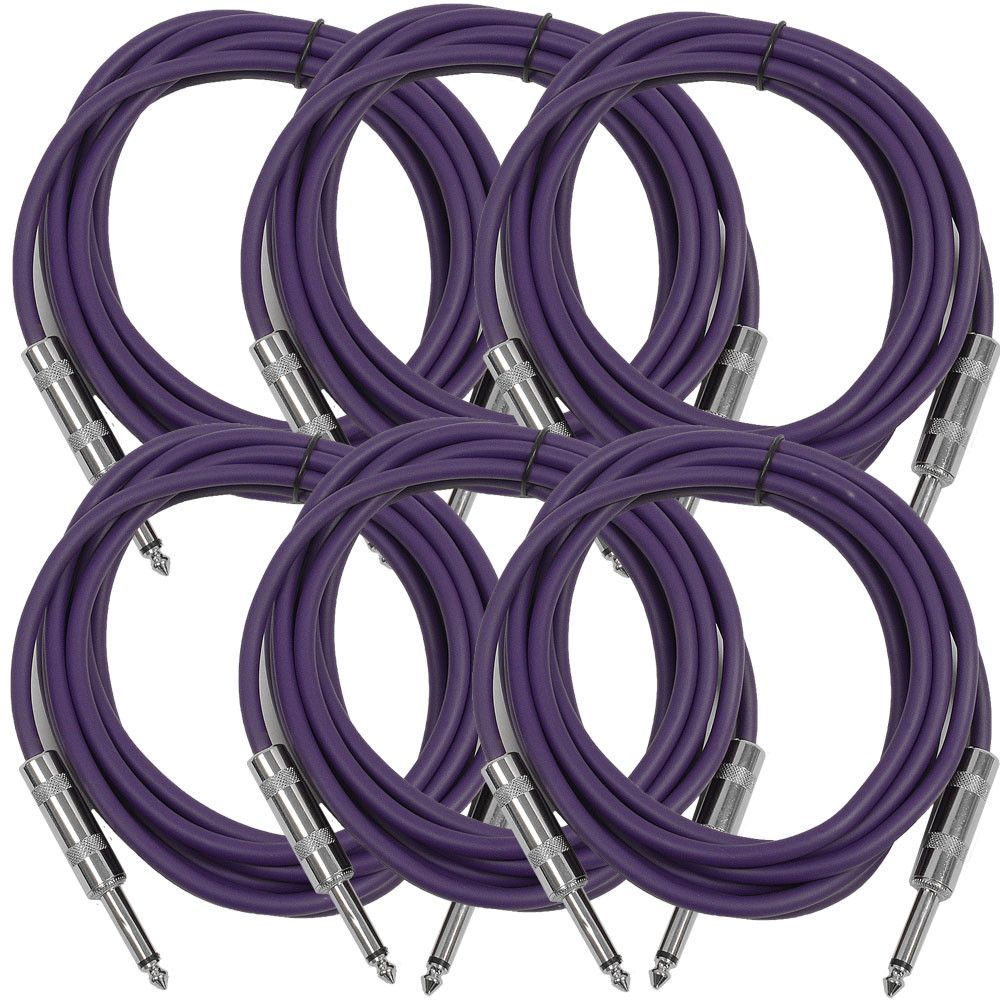 or Patch Cable Purple SASTSX-3-3 Foot TS 1//4 Guitar Instrument Seismic Audio
