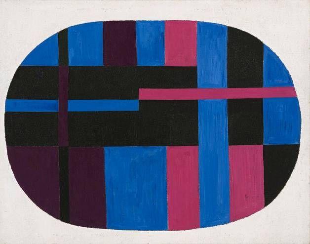 Nimetön vuodelta 1948, jolloin Carmen Herrera löysi abstraktin tyylinsä Pariisissa.