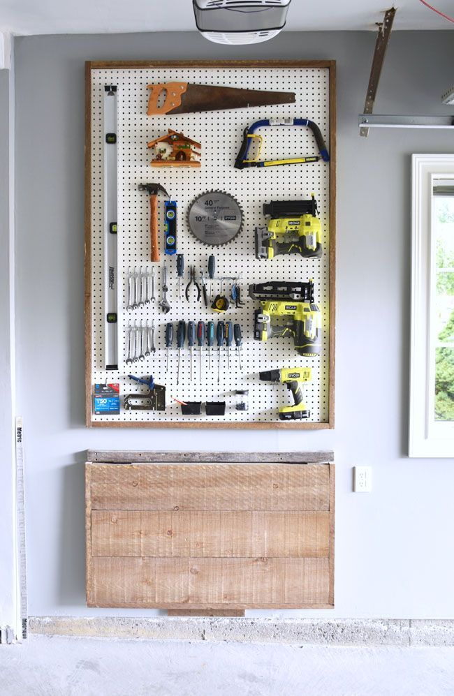 garage organization diy pegboard tool organizer on garage organization ideas that will save you space keeping things simple id=40193