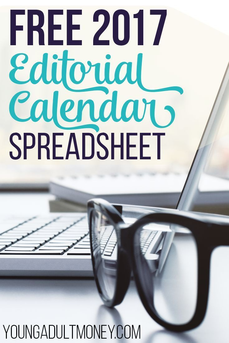 If you have a blog or are a content manager the best thing you can do to improve your site is use an editorial calendar. Once you start using an editorial calendar you will never stop! Get our FREE 2017 Editorial Calendar in Google Spreadsheets and start blogging better! via @YoungAdultMoney