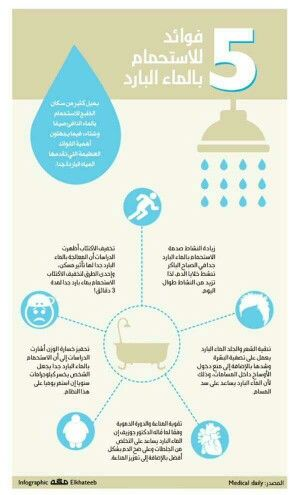 5 فوائد للاستحمام بالماء البارد Alternative Medicine Life Skills Infographic