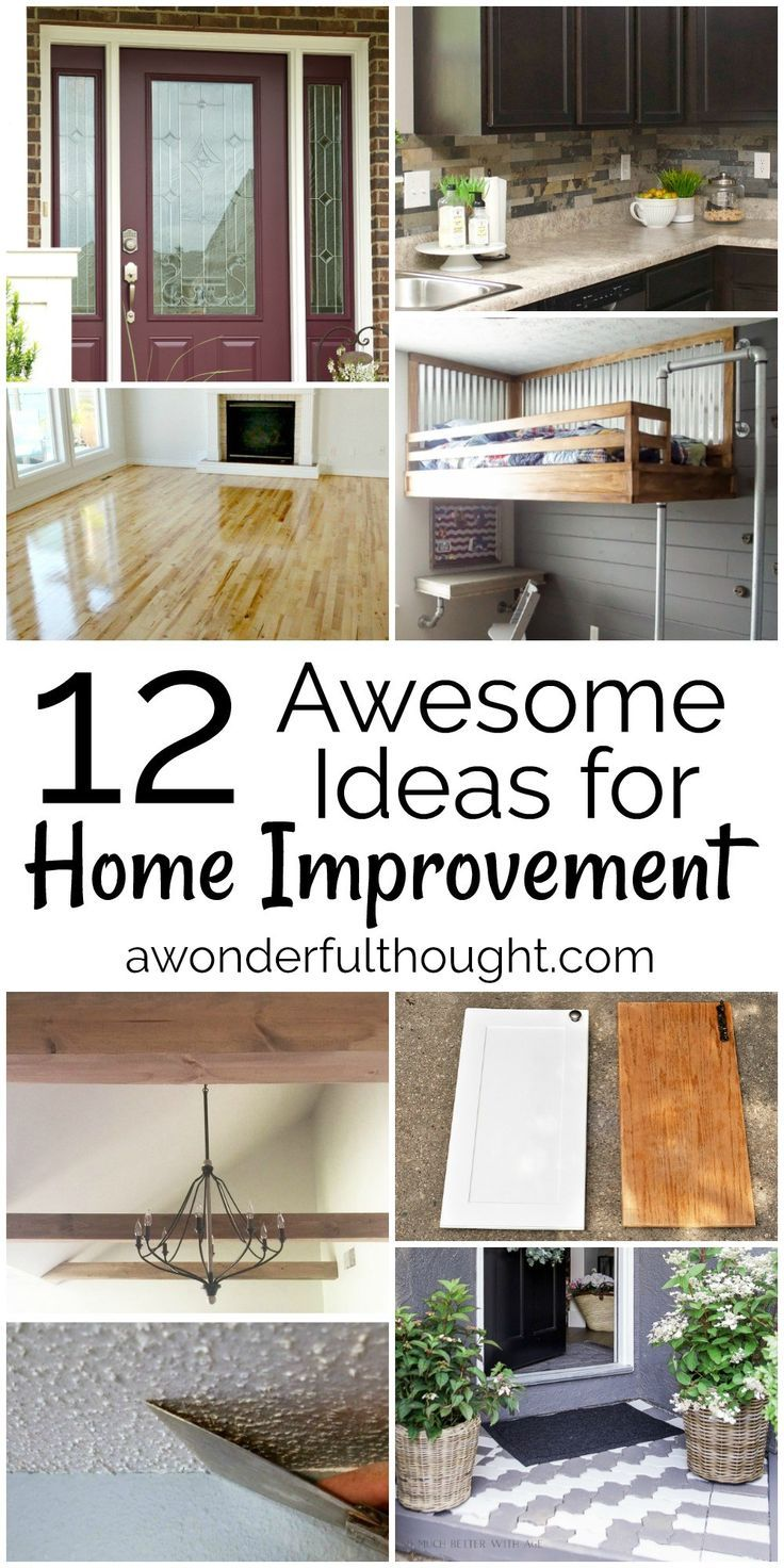 12 Awesome Home Improvement Ideas | Budgeting, Diy craft projects ...