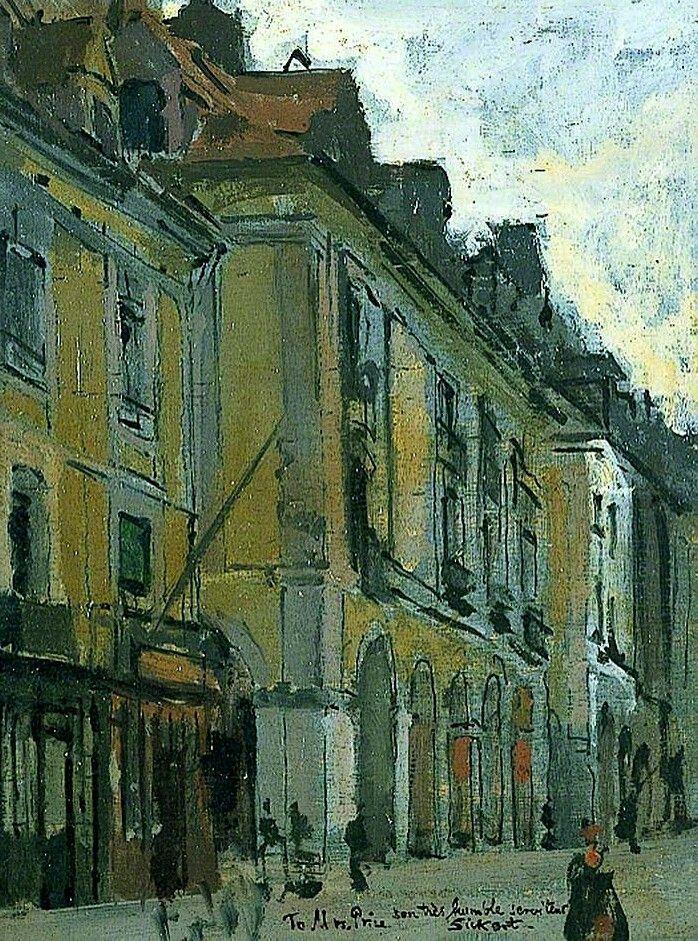 Les arcades de la poissonerie, quai Duguesne, Dieppe, France  Walter Richard Sickert- 1900